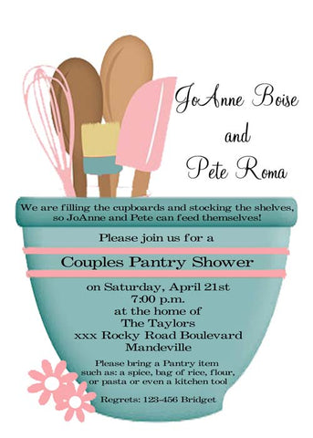 MIXING BOWL KITCHEN SHOWER CUSTOM INVITATION