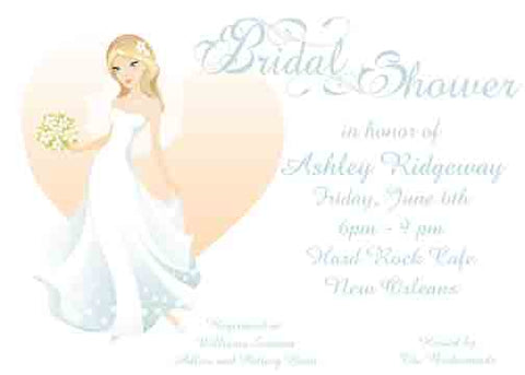 BRIDE HEART CUSTOM INVITATION