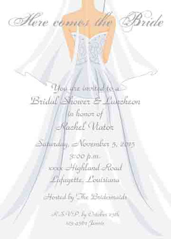 BACK OF BRIDE CUSTOM INVITATION