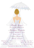 UMBRELLA BRIDE CUSTOM INVITATION