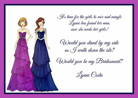 BRIDESMAIDS CUSTOM INVITATION