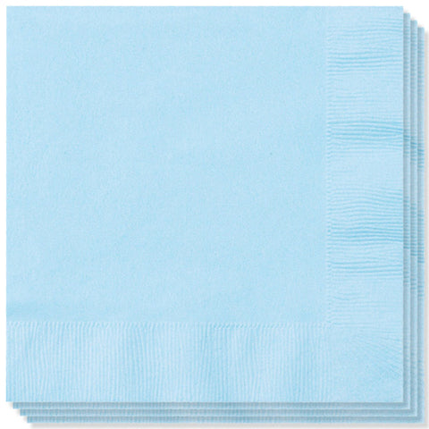 BABY BLUE 3 PLY LUNCHEON NAPKINS