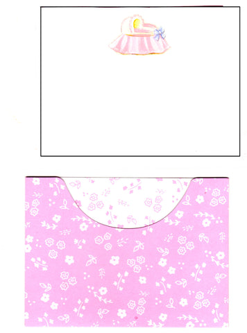 PINK BASSINET - BLANK INVITATION
