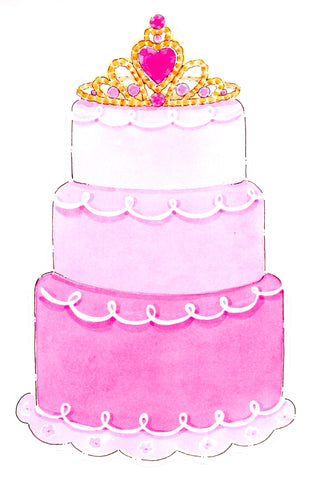 PRINCESS CAKE - BLANK STOCK INVITATION