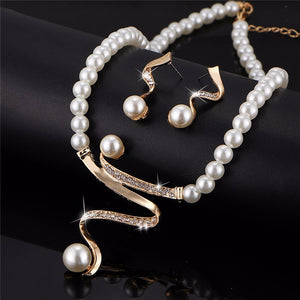 Vintage Gold and Simulated Pearl Jewelry Sets