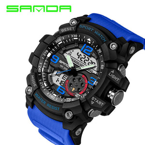 Dual Display Military Style Sports Watch