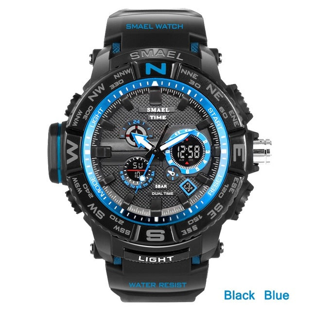Dual Display LED Sports Watch