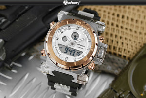 INFANTRY Aviator Dual Display Men's Watch