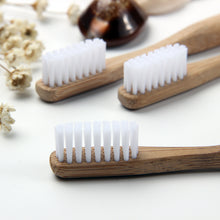 Premium Natural Bamboo Toothbrush White - The Wooden Toothbrush Shop
