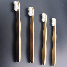 4 Pack Eco-Friendly Bamboo Wave Toothbrush - Smooth Handle,  soft-bristle, BPA Free - The Wooden Toothbrush Shop