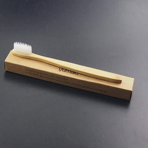 Smooth Handle Single Bamboo Toothbrush - The Wooden Toothbrush Shop
