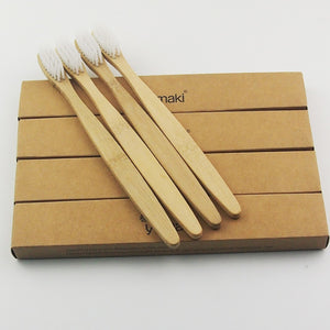 12 Bamboo Toothbrushes - The Wooden Toothbrush Shop