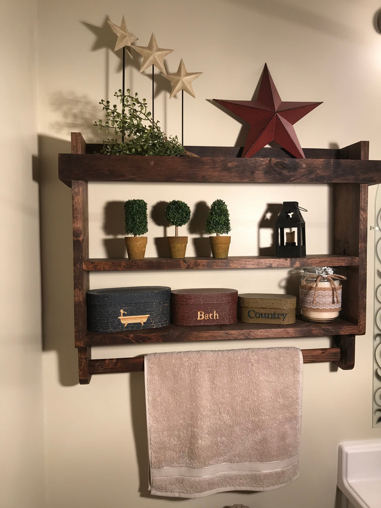 Bathroom Shelves With Towel Rack Marcuscable Com