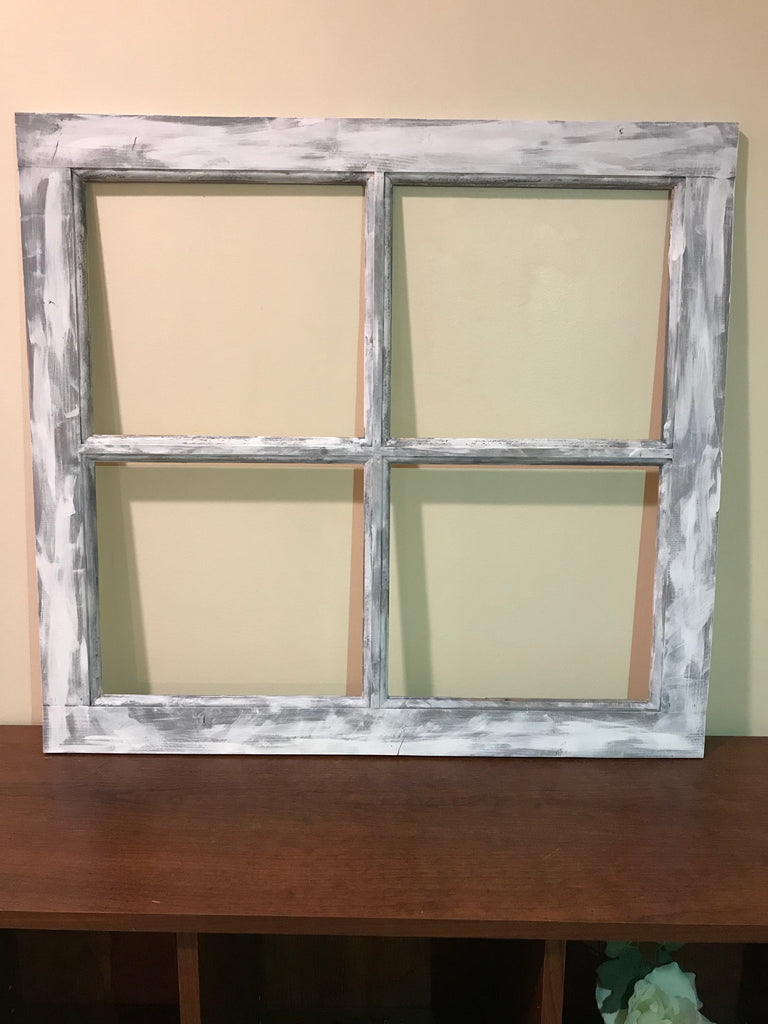 Window Frame | 4 Pane or 6 Pane Vintage Farmhouse Window Pane ...