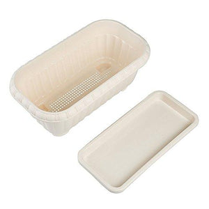 2 Pack Rectangular Planter Window Box 15 Inches Plastic Garden Pot with Saucers, Beige - Farm Nevada - Gardeners Start Here