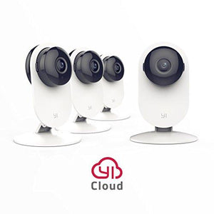 4pc Home Camera, Wireless IP Security Surveillance System with Night Vision for Home, Office, Shop, Baby, Pet Monitor with iOS, Android, PC App - Cloud Service Available - Farm Nevada - Gardeners Start Here