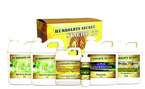 Humboldts Secret Starter Kit - World's Best Nutrient System: Base A & B, Golden Tree, Flower Stacker, Plant Enzymes and CalMag & Iron - Farm Nevada - Gardeners Start Here