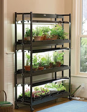 Indoor Grow Light, 3-Tier Stand SunLite Light Garden With Plant Trays - Farm Nevada - Gardeners Start Here