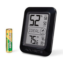AcuRite 00613 Humidity Monitor with Indoor Thermometer, Digital Hygrometer and Humidity Gauge Indicator - Farm Nevada - Gardeners Start Here