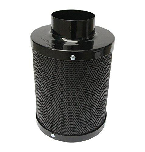 Carbon Filter -4 inch- by Formline Supply - Charcoal Scrubber Provides Odor Control for Grow Tent Kit Ventilation while Maintaining Inline Fan Air Flow - Reversible Flange- 4