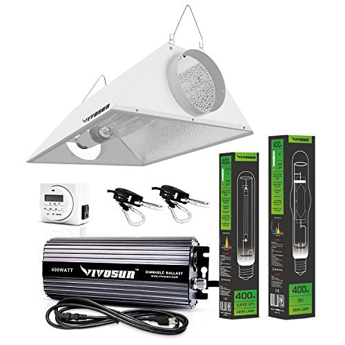 Hydroponic 600 Watt HPS MH Grow Light Air Cooled Reflector Kit - Easy to set up, High Stability & Compatibility ( Enhanced Version ) - Farm Nevada - Gardeners Start Here