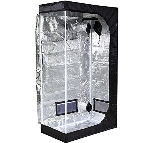 Hydroponic Water-Resistant Grow Tent with Removable Floor Tray for Indoor Seedling Plant Growing 36