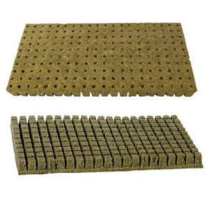 "1""x1"" Sheet of 200 Rockwool / Stonewool Starter Cubes for Cuttings, Cloning, Plant Propagation, and Seed Starting - Farm Nevada - Gardeners Start Here"