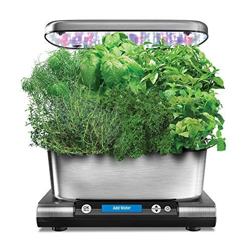 AeroGarden Harvest Elite with Gourmet Herb Seed Pod Kit, Stainless Steel - Farm Nevada - Gardeners Start Here