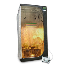 "Complete 3 x 3 (39""x39""x79"") Grow Tent Package With 400-Watt HPS Grow Light + DWC Hydroponic System & Advanced Nutrients - Farm Nevada - Gardeners Start Here"