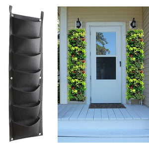 Vertical Garden Hanging Planter, 7 Pockets, Wall Hanging Mount Planter Plant Grow Bag for Flower Vegetable - Indoor / Outdoor - Farm Nevada - Gardeners Start Here