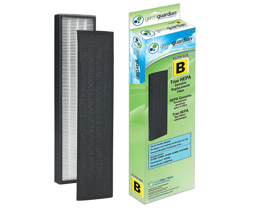 GermGuardian Air Purifier Filter FLT4825 GENUINE True HEPA Replacement Filter B for AC4300/AC4800/4900 Series Germ Guardian Air Purifiers - Farm Nevada - Gardeners Start Here