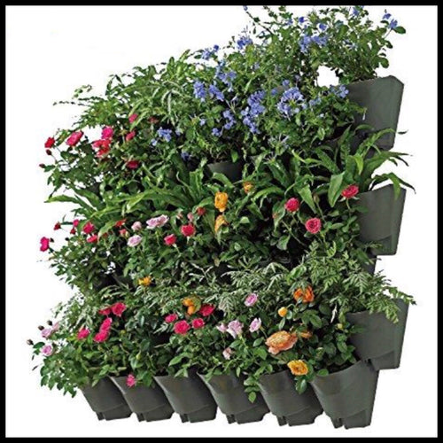 SELF WATERING VERTICAL Wall Hangers with Pots - Farm Nevada - Gardeners Start Here