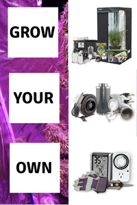 "Complete Indoor Grow Kit With Fan, Soil, 24""x24""x60"" Hut - Everything You Need to Grow Plants Inside - Farm Nevada - Gardeners Start Here"