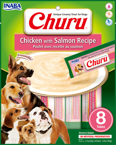 Dog Churu - Chicken with Salmon (1 Pack/8 Tubes)