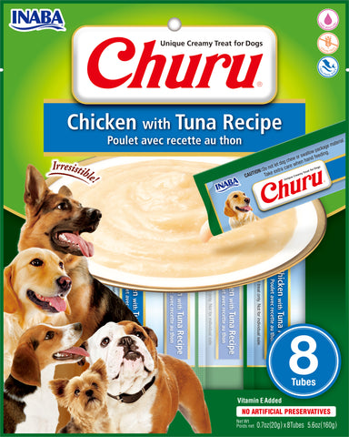 Dog Churu - Chicken with Tuna (1 Pack/8 Tubes)