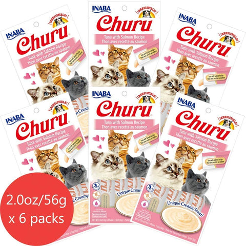 Churu Tuna with Salmon 6 pack/4 tubes