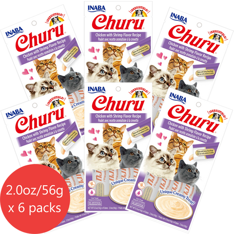Churu Chicken with Shrimp Flavor 6 pack/4 tubes