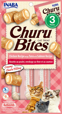 Churu Bites Chicken Recipe wraps Tuna with Salmon Recipe (Single Pack Only)