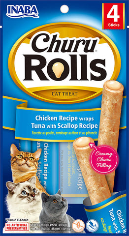 Churu Rolls Chicken Recipe wraps Tuna with Scallop Recipe (Single Pack Only)