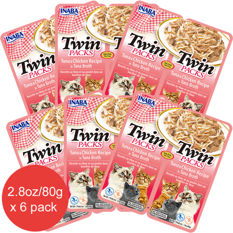 Twin Packs Tuna & Chicken Recipe in Tuna Broth (Contains 6 packs)