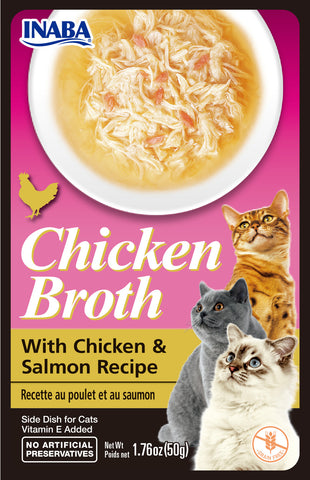 Chicken Broth Chicken & Salmon Recipe (Single Pack Only)