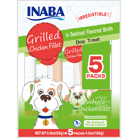 Grilled Chicken Fillet in Seafood Broth for Dogs 5P