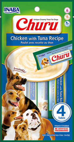 Dog Churu - Chicken with Tuna (1 Pack / 4 Tubes)