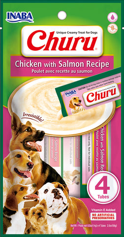 Dog Churu - Chicken with Salmon (1 Pack / 4 Tubes)