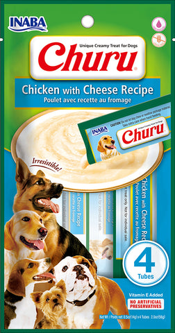 Dog Churu - Chicken with Cheese (1 Pack / 4 Tubes)