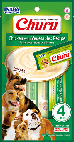 Dog Churu - Chicken with Vegetables (1 Pack / 4 Tubes)