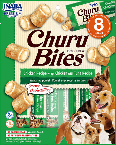 Dog Churu Bites - Chicken with Tuna (1 Pack / 8 Packs)
