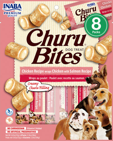 Dog Churu Bites - Chicken with Salmon (1 Pack / 8 Packs)