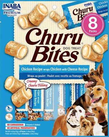 Dog Churu Bites - Chicken with Cheese (1 Pack / 8 Packs)