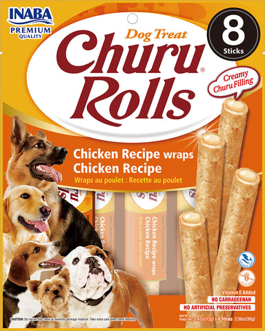 Dog Churu Rolls - Chicken (1 Pack / 8 Sticks)